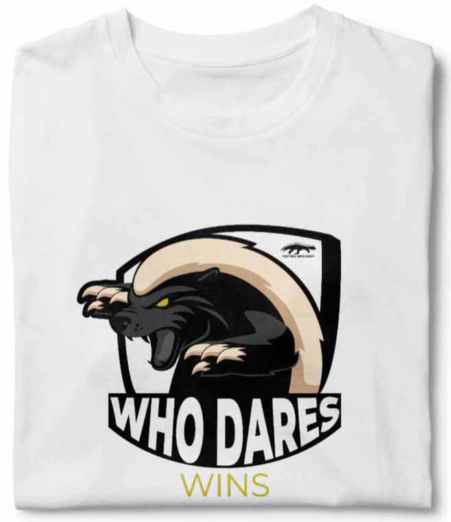 Honeybadger Who Dares Wins White